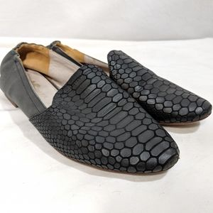 Yosi Samara Snake Embossed Loafers